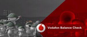 Vodafone Balance Check Number